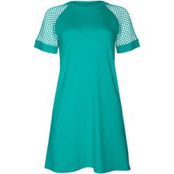 Kleidung Damen Kurze Kleider Lisca Kurzärmeliges Strandkleid Ibiza Blau Turquoise