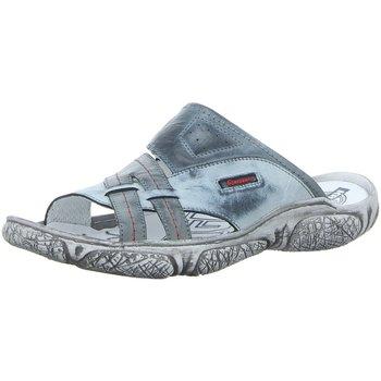 Schuhe Herren Sandalen / Sandaletten Krisbut Offene Sportliche Pantolette 1203-4-1 blau