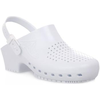 Schuhe Damen Pantoletten / Clogs Calzuro S BIANCO CINTURINO Bianco
