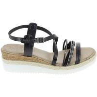 Schuhe Damen Sandalen / Sandaletten Porronet Sandale F12632 Noir Schwarz
