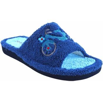 Schuhe Damen Hausschuhe Berevere Geh nach Hause Lady  v 1006 blau Grau