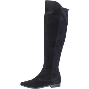 Schuhe Damen Kniestiefel Carmens Padova BJ811 Schwarz