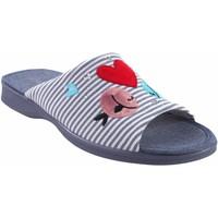 Schuhe Damen Hausschuhe Garzon Geh nach Hause Frau  2543.161 blau Rot