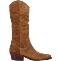 Schuhe Damen Klassische Stiefel Dakota Boots DKT67 BRAUN