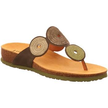 Schuhe Damen Pantoffel Think Pantoletten 3-000372-7000 oliv