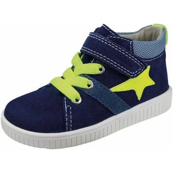 Schuhe Jungen Sneaker Low Richter Schnuerschuhe dunkel, neongelb 2552-1111-6821 blau