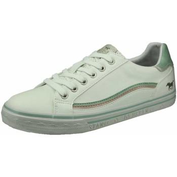 Schuhe Damen Sneaker Low Mustang Schnuerschuhe 1354307-11 weiß