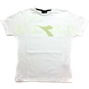 Kleidung Jungen T-Shirts Diadora - T-shirt bianco 027313-002 BIANCO