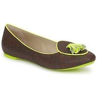 Schuhe Damen Slipper Etro BALLERINE 3738 Braun / Zitrone