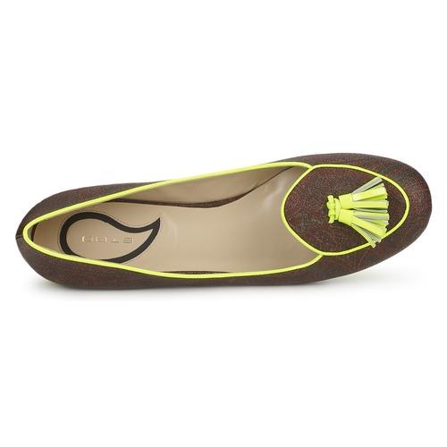 Etro BALLERINE 3738 Braun / Zitrone  Schuhe Ballerinas Damen 131,60