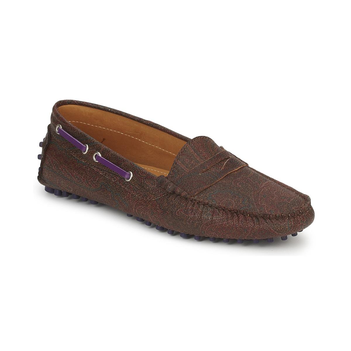 Etro MOCASSIN 3706 Violett - Kostenloser Versand bei Spartoode ! - Schuhe Slipper Damen 159,50 €