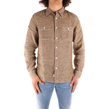 Kleidung Herren Langärmelige Hemden Blauer 21SBLUS01221 BRAUN