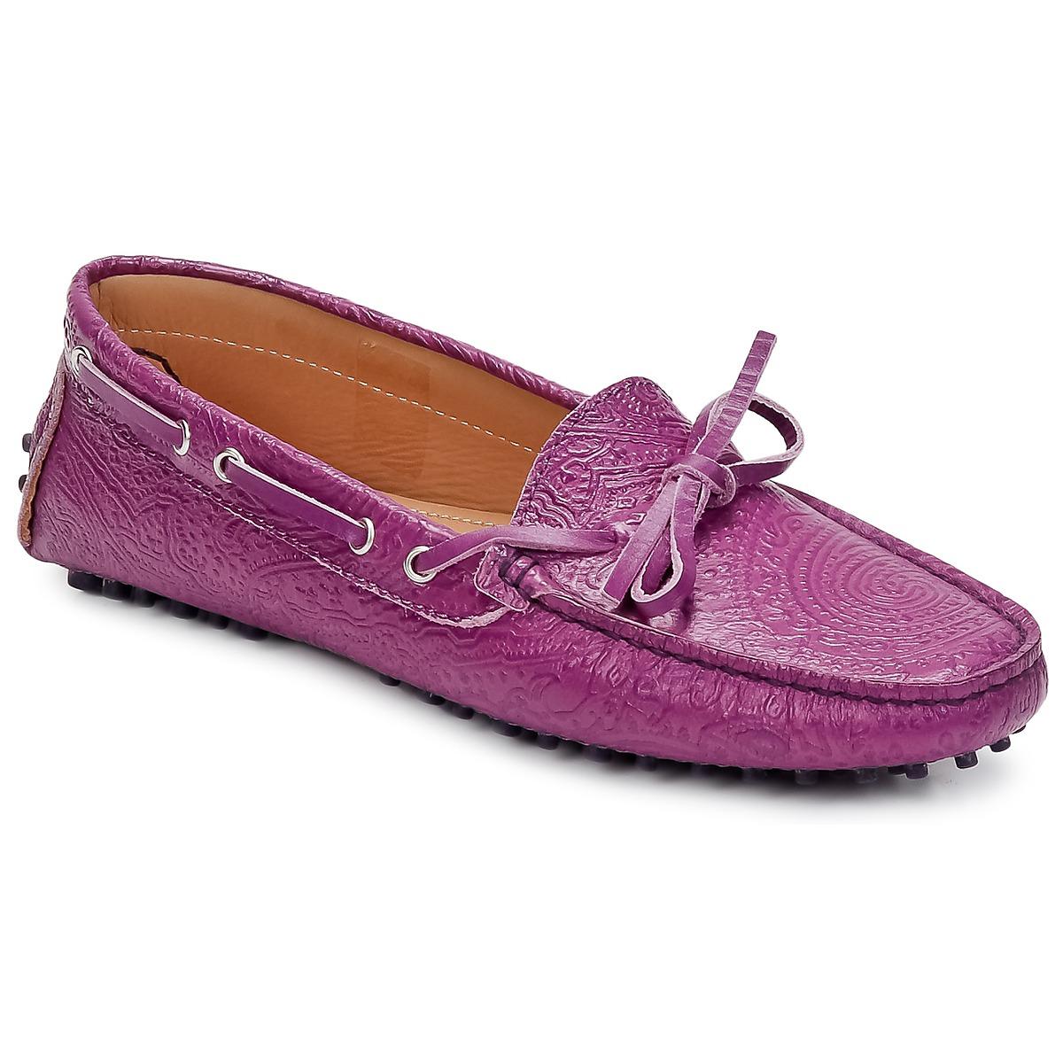 Etro MOCASSIN 3773 Violett - Kostenloser Versand bei Spartoode ! - Schuhe Slipper Damen 189,50 €