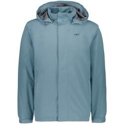 Kleidung Herren Jacken Cmp Sport MAN RAIN SNAPS HOOD JACKET 39X7367 E772 blau