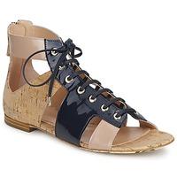 Schuhe Damen Sandalen / Sandaletten John Galliano AN6379 Blau / Beige / Rose