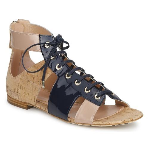 John Galliano AN6379 Blau   Beige   Rosa  Schuhe Sandalen   Sandaletten Damen