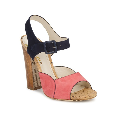 John Galliano AN3571 Rose / Marine Schuhe Sandalen / Sandaletten Damen 251,60