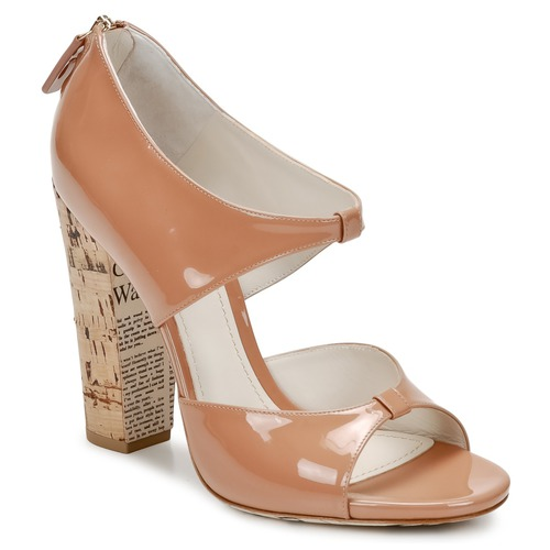 John Galliano AN6364 Rose / Beige  Schuhe Sandalen Sandalen Sandalen / Sandaletten Damen 259,60 5d2344