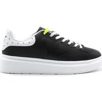 Schuhe Damen Sneaker Low Shop Art SA050103 SCHWARZ-WEISS