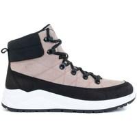 Schuhe Damen Sneaker High 4F OBDH252 Schwarz, Rosa