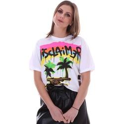 Kleidung Damen T-Shirts Disclaimer 21EDS50632 Weiß