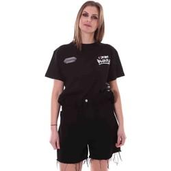 Kleidung Damen T-Shirts Disclaimer 21EDS50642 Schwarz