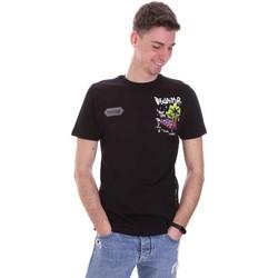 Kleidung Herren T-Shirts Disclaimer 21EDS50522 Schwarz