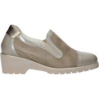 Schuhe Damen Slip on Melluso R30721 Beige