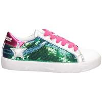Schuhe Mädchen Sneaker Low Shop Art SA050317 Sneaker Kind SILBER / FUCHSIA / WEISS SILBER / FUCHSIA / WEISS