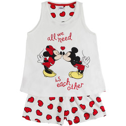 Kleidung Mädchen Pyjamas/ Nachthemden Admas Mädchen-Schlafanzug kurzes Tanktop Love Mouse Disney Gelb