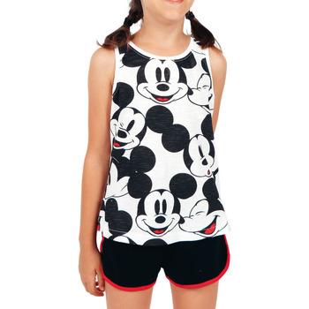 Kleidung Mädchen Pyjamas/ Nachthemden Admas Pyjama Mädchen Shorts Tank Top Mickey Heads Disney weiß Weiß