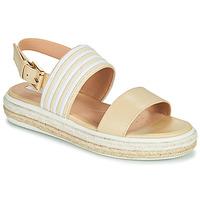 Schuhe Damen Sandalen / Sandaletten Geox LEELU Beige