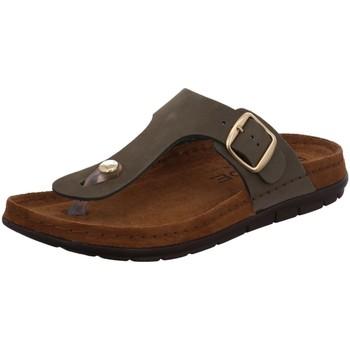 Schuhe Damen Zehensandalen Rohde Pantoletten 5860-61 grün
