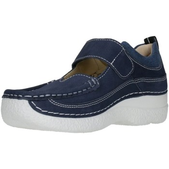 Schuhe Damen Slipper Wolky Slipper Roll Combi 06214-11-820 blau