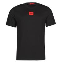 Kleidung Herren T-Shirts HUGO DIRAGOLINO Schwarz / Rot