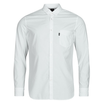 Kleidung Herren Langärmelige Hemden BOSS MAGNETON Weiss