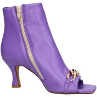 Schuhe Damen Low Boots Balie Baliè 588 Tronchetto Frau Violett Violett