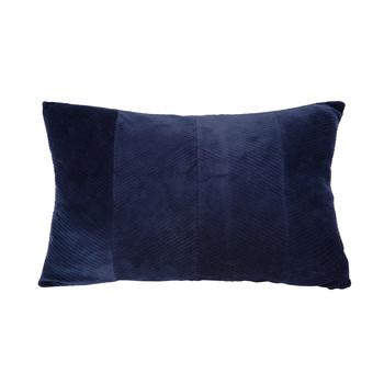 Home Kissen Present Time RIBBED Blau