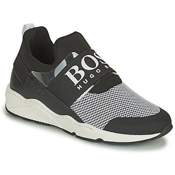 Schuhe Jungen Sneaker Low BOSS NATINA Schwarz / Weiss