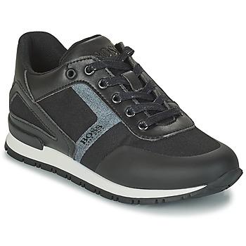Schuhe Jungen Sneaker Low BOSS FILEMONA Schwarz