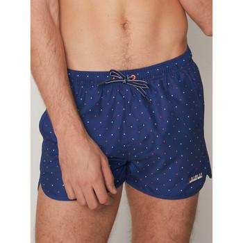 Kleidung Herren Badeanzug /Badeshorts Admas For Men Neu Dots Antonio Miro Admas Swim Shorts Blau Marine