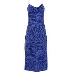 Kleidung Damen Maxikleider Lisca Lima  Sommer mittellanges Kleid mit dünnen Trägern Blau