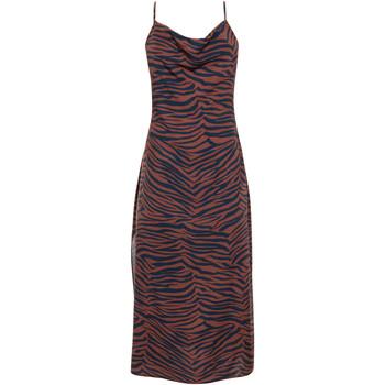 Kleidung Damen Kleider Lisca Lima  Sommer mittellanges Kleid mit dünnen Trägern Violett/oranget