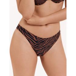Kleidung Damen Bikini Ober- und Unterteile Lisca Badeanzug unten Slips Lima Violett/oranget