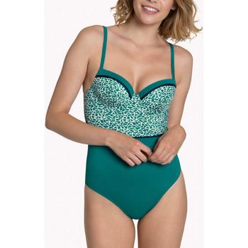 Kleidung Damen Badeanzug Lisca 1-teiliger Badeanzug vorgeformt mehrere Positionen Utila Dunkelgrün