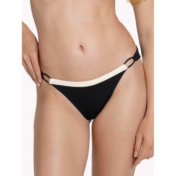 Kleidung Damen Bikini Ober- und Unterteile Lisca Brasilianischer Badeanzug Slip schwarz Guaraja Perlschwarz