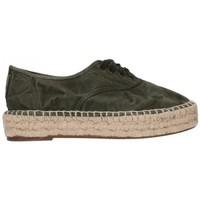 Schuhe Herren Leinen-Pantoletten mit gefloch Natural World 687E  622 Mujer Kaki vert