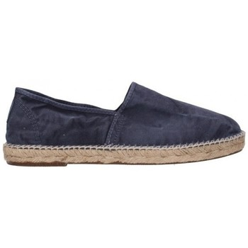 Schuhe Herren Leinen-Pantoletten mit gefloch Natural World 325E 677 Hombre Azul marino bleu