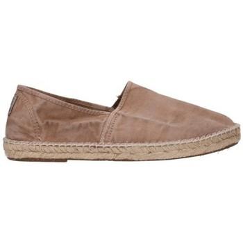 Schuhe Herren Leinen-Pantoletten mit gefloch Natural World 325E 621 Hombre Beige beige