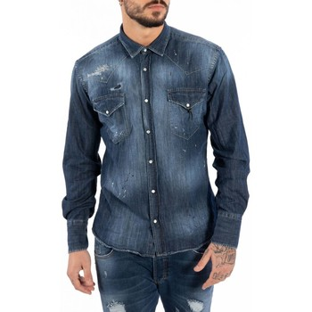 Kleidung Herren Langärmelige Hemden Takeshy Kurosawa  Blau